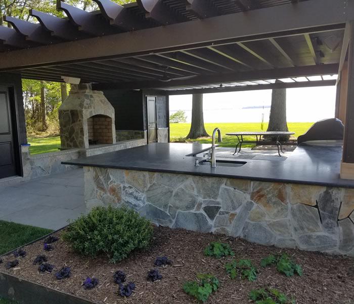 outdoor entertainment areas